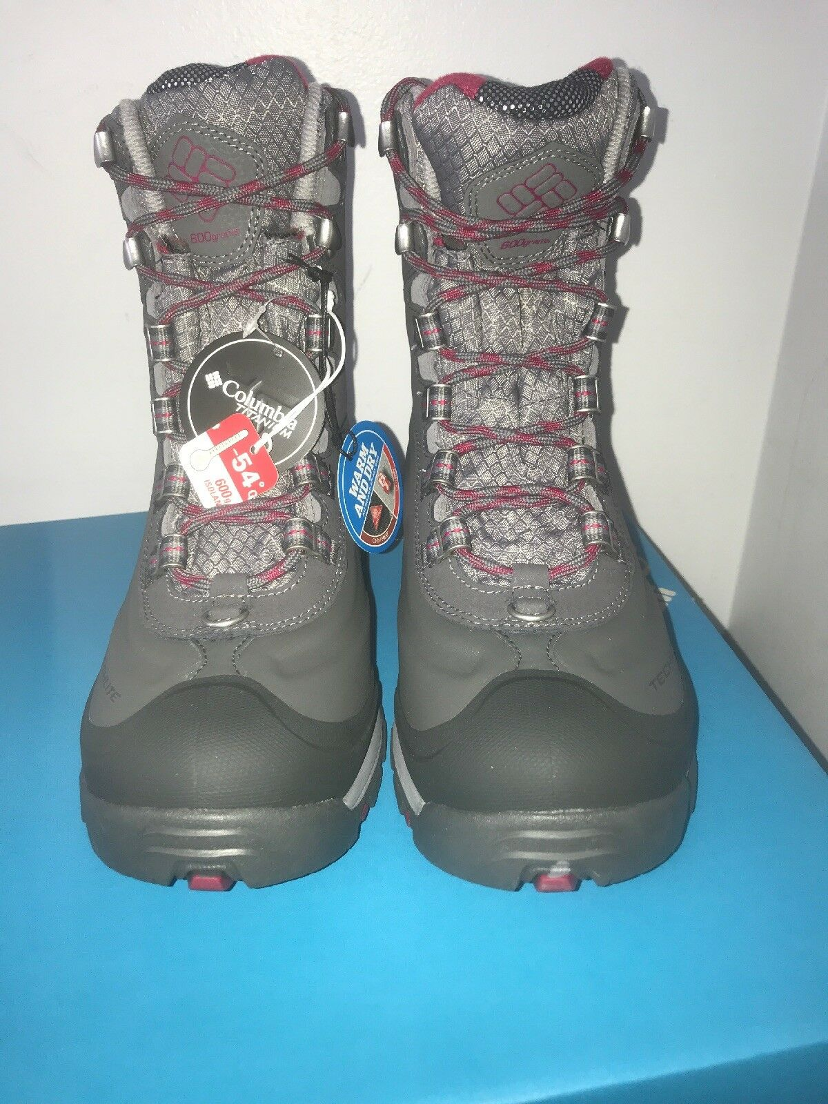 NIB Womens Columbia Bugaboot Plus 3 Titanium Omni-Heat Outdry Snow Boots sz 5.5