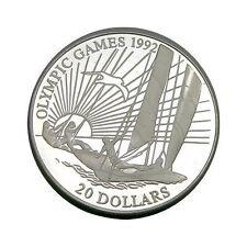 elf  Kiribati 20 Dollars 1992 Silver Proof Olympics  Sailing  Ship