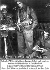 WW2 - CP -Soldats du 14° Rgt d'artillerie campagne, Artillerie royale canadienne