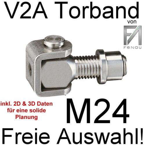 Torband V2A V4A Schanier Torschanier Edelstahltor Edelstahlschanier M12 bis M24