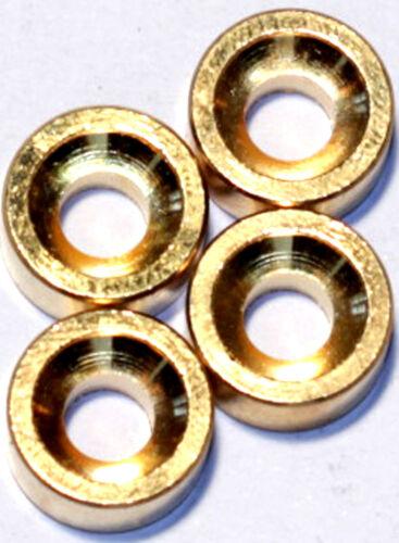 """4 Stück Halsbefestigungs-/""""Muffen/"""" gold"""