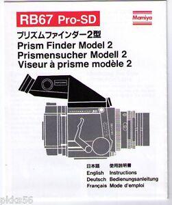 MAMIYA-RB-RZ-PRISM-FINDER-MODEL-2-INSTRUCTION-ORIGINAL-PRINT-JAPAN-not-copies