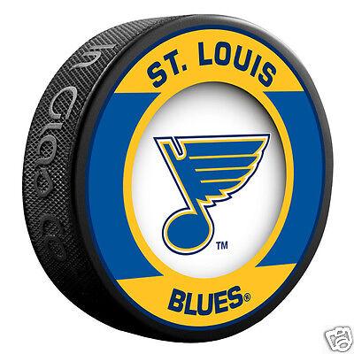"ST. LOUIS BLUES ""Retro"" Series Team Logo Model SOUVENIR PUCK NEW In Glas Co."