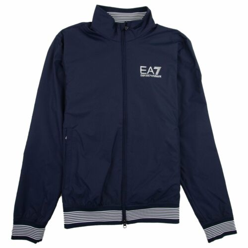 EA7 Logo Bomber Jacket Navy Blue