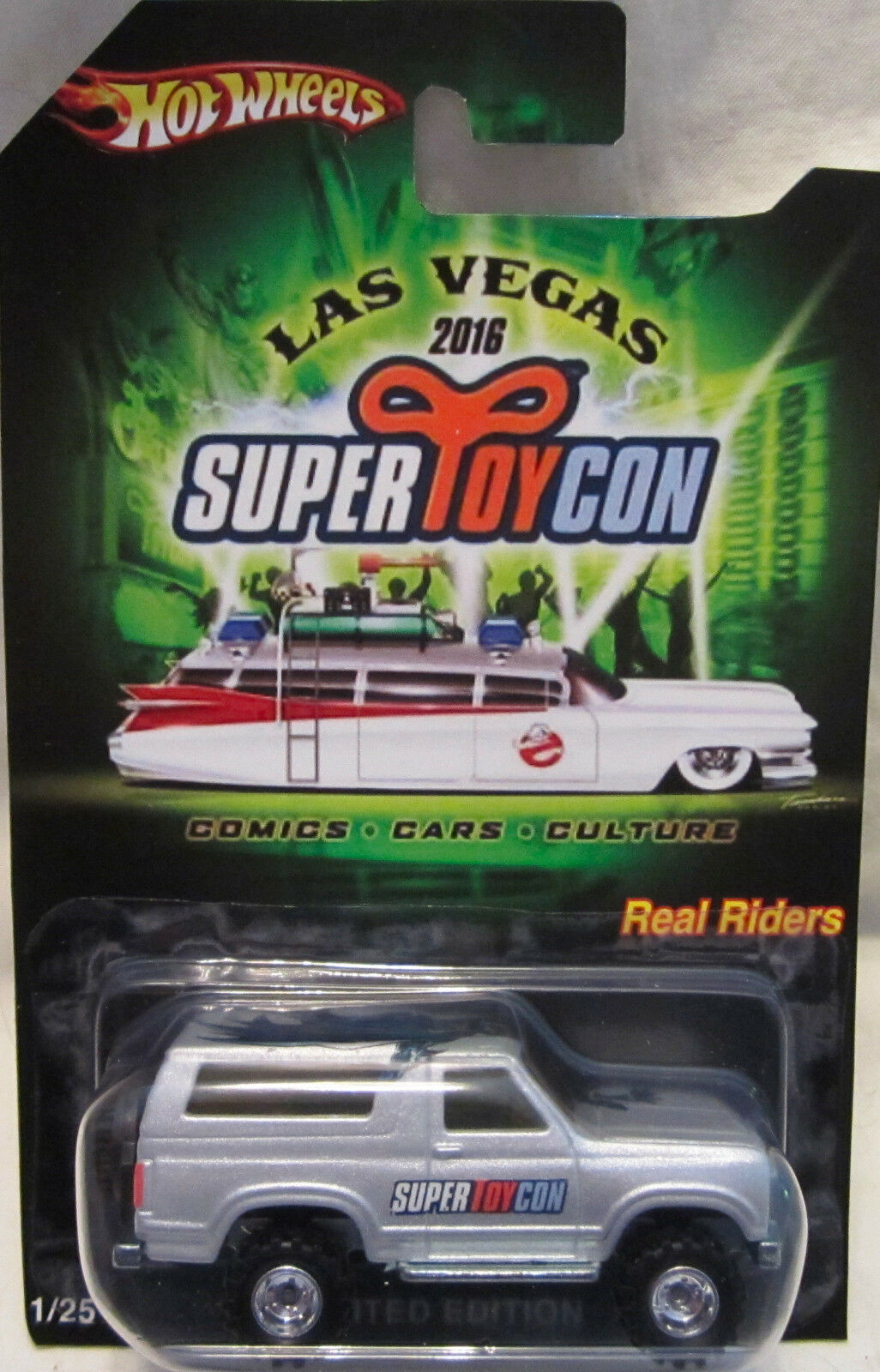 Hot Wheels Personnalisé 85 Ford Bronco 2016 Las Vegas Convention Real Riders