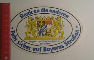 Aufkleber-Sticker-Denk-an-die-anderen-fahr-sicher-auf-Bayerns-260117150