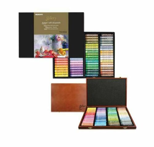 MOPV-72 Soft Oil Pastels Paper Box Set of 72 Assorted Colors Mungyo