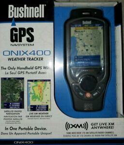 Bushnell-ONIX400-3-5-034-GPS-Weather-Tracker-with-XM-Satellite-Radio-NEW
