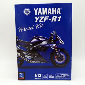 NewRay-2002-Yamaha-YZF-R1-1-12-scale-Die-Cast-Model-Kit-53275-Brand-New-in-Box