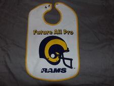 NFL LA Los Angeles Rams Large Licenced Baby Bib NWT