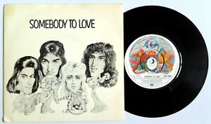 Queen-Somebody-To-Love-7-034-Vinyl-45-UK-1976-P-S