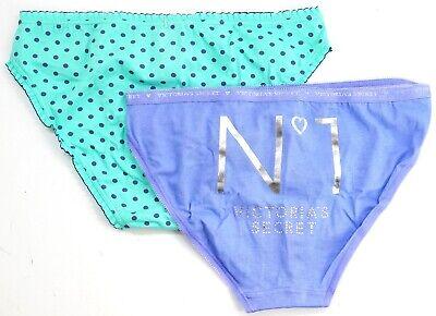 New Victoria/'s Secret Blue Green Polka Dot Purple Lot Of 3 Bikini Cut Pantie S
