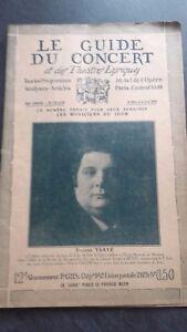Revista Le Guía de La Concierto Y Las Sketches Letra 1926 N º 33-34 E. Ysaye