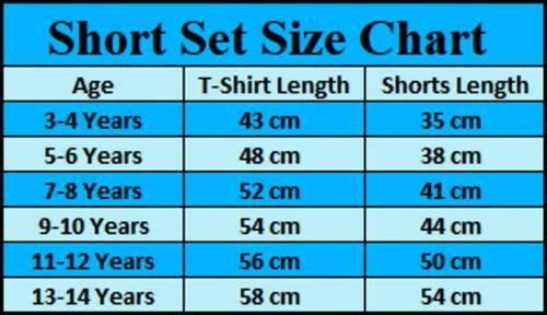 Garçons Splash contraste panneau d/'été à manches courtes été T-shirt top et short Set