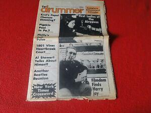 Vintage-Rock-N-Roll-Newspaper-Pulp-Magazine-The-Drummer-1976-Al-Stewart-P2