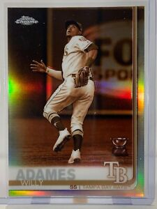 2019-Topps-Chrome-179-Willy-Adames-Rookie-Cup-Sepia-Refractor-Tampa-Bay-Rays