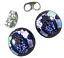 Tiny-GLASS-EARRINGS-DICHROIC-Post-1-4-034-10mm-Silver-Pink-Round-Layered-Fused-STUD thumbnail 2