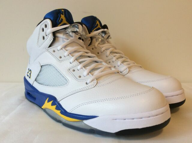 size 40 44f9f 3d124 DS Air Jordan 5 V Retro Laney Blue Yellow Size 11