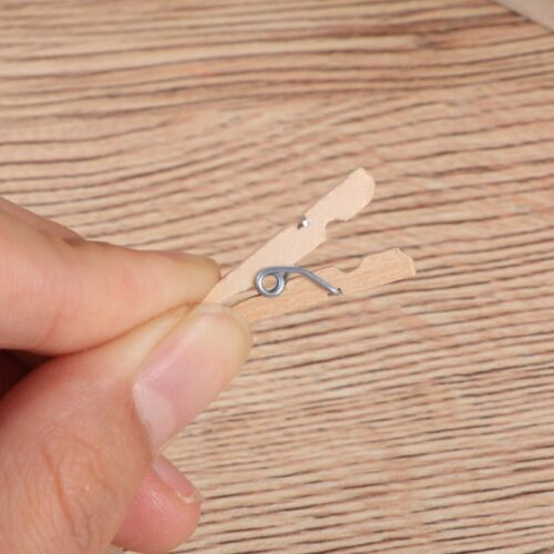 100Pcs Mini Wood Clothespins Laundry Photo Paper Peg Clips Clothes Pins Hangers