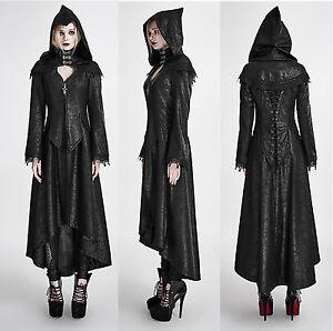 Das Bild wird geladen Gothic-Punk-Rave-Mantel -Hood-Kapuze-Steampunk-Halloween- 97803af2cc