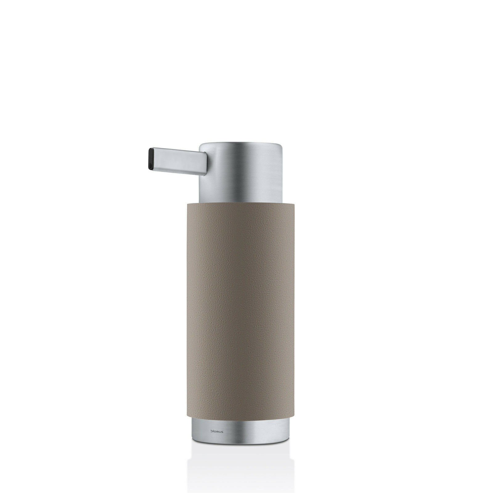Blomus Ara Soap Dispenser, Taupe Polystone w/ Brushed Stainless Steel Accent
