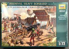 7 Figures and 1 Gun Zvezda 1//72 8032 Medieval Heavy Bombard XIV - XV AD