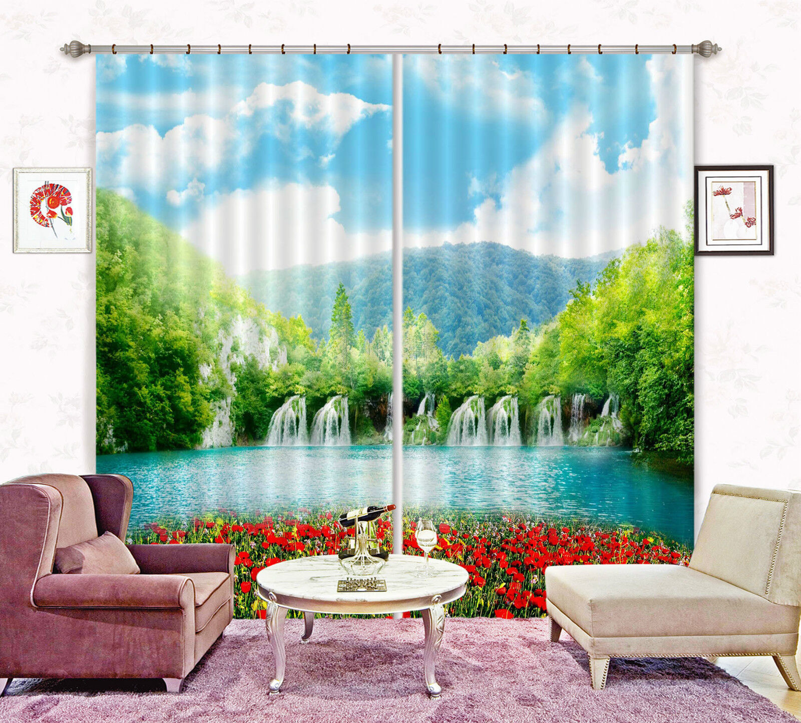 3d paisaje 5466 bloqueo foto cortina cortina de impresión sustancia cortinas de ventana