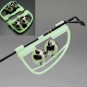 Details about 10pcs Night Fishing Accessory Rod Tip fish Bite Alarm Alert Clip Bells Ring Glow