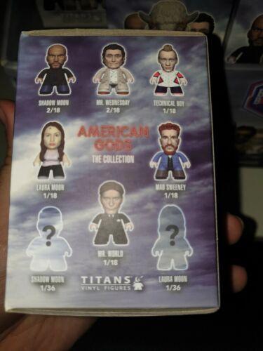 """Titans 3/"""" VINYL FIGURES American Gods Collection Plein Cas de 18 chiffres NEUF"""