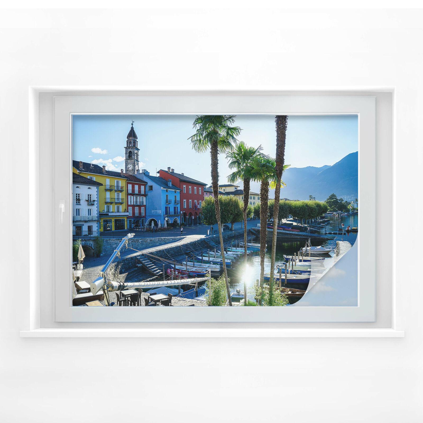 Sichtschutzfolie Hafen am Lago Lago Lago Maggiore | Flagship-Store  1ff699