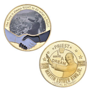 WR moneda de oro Martin Luther King hijo Afroamericano Premio Nobel de la paz
