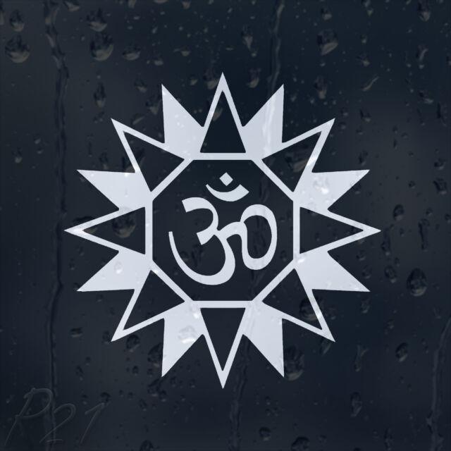 Aum Om Star Hindu Symbol Ohm Car Or Laptop Decal Vinyl Sticker For