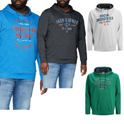 Jack /& Jones Men/'s Big Plus Size Hoodies Logo Printed Long Sleeve Pullover Top