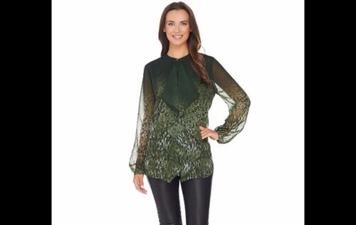 Olive J Spitzenprint Gre Basso A278693 Animal Ruffle Bluse Mit 16 Front Dennis xRTw6g
