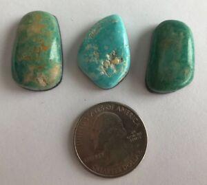 Handcut Nevada Natural Royston Turquoise Cabochon; Natural