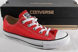 Converse All Star Scarpe con lacci sneakers rosso tessile/lino M9696C NUOVO