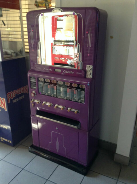 Restored FRESH CANDY Coin-Op Candy STONER Vending Machine