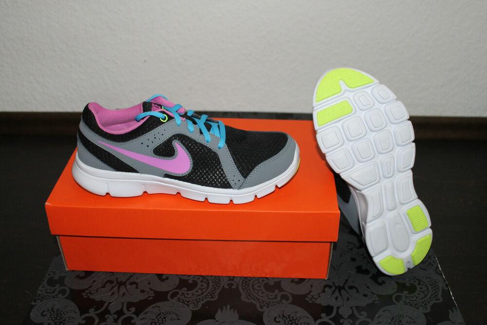 Nike Flex Femmes fonctionnement chaussures noir gris rose taille 38 ou 38,5 NEUF-