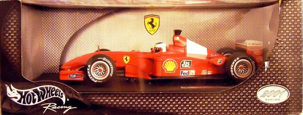 HOT WHEELS 50203  FERRARI F 2001, Rubens Barrichello, diecast in 1 18, NUOVO & OVP