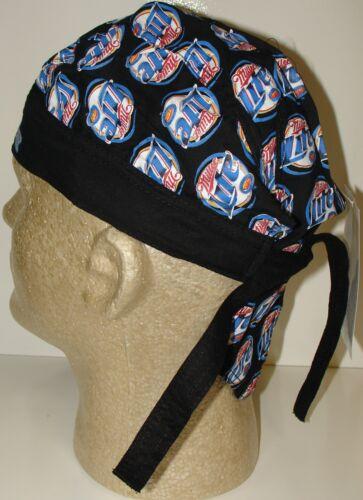 Miller Light In Red White and Blue Logo over Black Doo Du Rag Headwrap Skull Cap