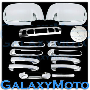 Chrome-Mirror-4-Door-Handle-Tailgate-3rd-Brake-Gas-Cover-For-Dodge-Ram-1500-2500