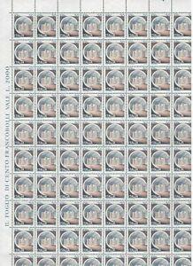 S27168) Italy 1980 MNH New Castles Lire 20 Sheet Folded