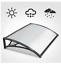 thumbnail 4 - Door Canopy Awning Shelter Canopy Outdoor Porch Shade In 2 Colours, Lightweight,