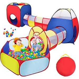 Image is loading Sunba-Youth-Kids-Tent-with-Tunnel-Ball-Pit-  sc 1 st  eBay & Sunba Youth Kids Tent with Tunnel Ball Pit for Boys Toddlers ...