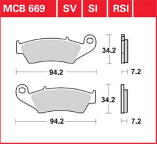 KR Bremsbeläge Satz vorne MCB 669 SUZUKI DR-Z 250 DR-Z 400 00-07. Brake Pads