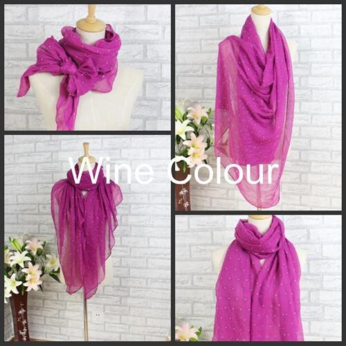 MONTANTE//Diamonte Hijab Grande Maxi Sciarpa Scialle Sarong