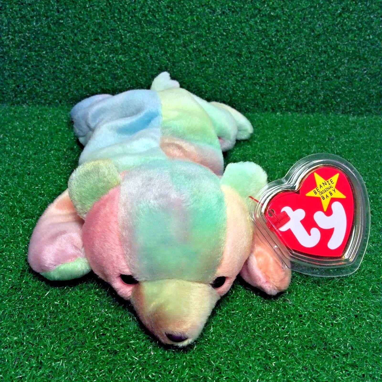 1998 MWMT Ty Beanie bebis Sammy The Bear RARE Pensioned flämtning fel FRI Shipping