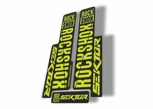 Rock Shox SEKTOR 2018 Fork Decal Mountain Bike Cycling Sticker Adhesive Dolphin