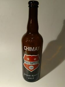 Beer-Bottle-CHIMAY-EMPTY-Belgium-Peres-trappistes-11-034-tall-silk-screen