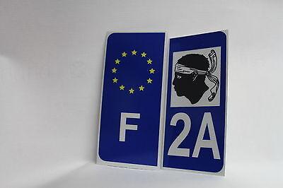 2x Stickers Reflechissant Département 2a Corse+f Tegen Elke Prijs